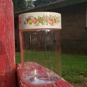 Vintage tall canister